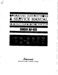 Service and User Manual Sansui AU-555