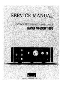 Manual de serviço Sansui AU-9900