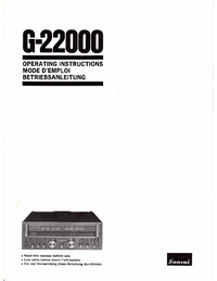 Bedienungsanleitung Sansui G22000