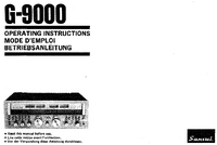 Manual del usuario Sansui G9000