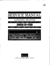 Manuale di servizio Sansui QR4500
