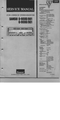 Service Manual Sansui G-901
