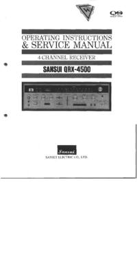 Service-en gebruikershandleiding Sansui QRX-4500