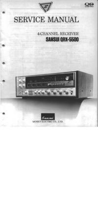 Manual de serviço Sansui QRX-5500