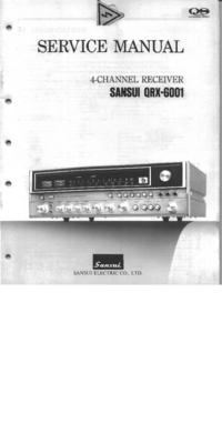Manual de servicio Sansui QRX-6001