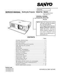 Servicehandboek Sanyo Chassis M4J-Z100