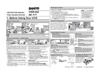 User Manual Sanyo VWM-950