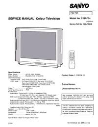 Manual de serviço Sanyo C29LF34