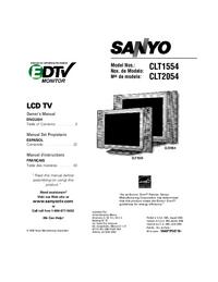 Manuel de l'utilisateur Sanyo CLT2054