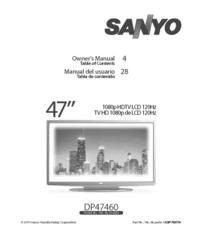 User Manual Sanyo DP47460