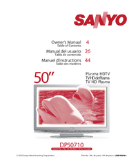 User Manual Sanyo DP50710