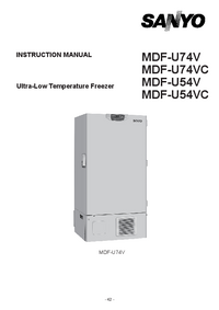 Руководство по техническому обслуживанию Sanyo MDF-U54VC