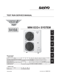 Руководство по техническому обслуживанию Sanyo R410A