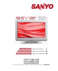 Gebruikershandleiding Sanyo DP26649
