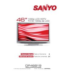 Manuel de l'utilisateur Sanyo DP46819