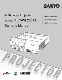 Manuale d'uso Sanyo PLC-WL2503A