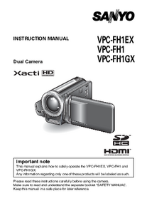 Manual del usuario Sanyo VPC-FH1GX
