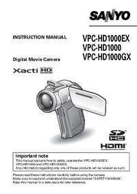 Manual del usuario Sanyo VPC-HD1000GX