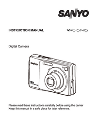 Manual del usuario Sanyo VPC-S1415