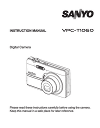 User Manual Sanyo VPC-T1060