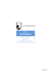 Manuale d'uso Sanyo VCC-HD5400
