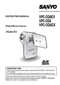 Instrukcja obsługi Sanyo VPC-CG6