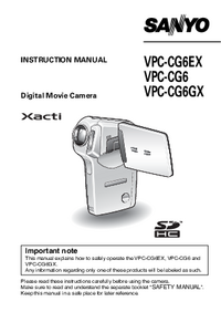 User Manual Sanyo VPC-CG6
