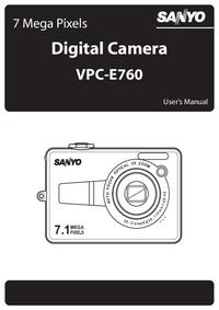 Manuel de l'utilisateur Sanyo VPC-E760