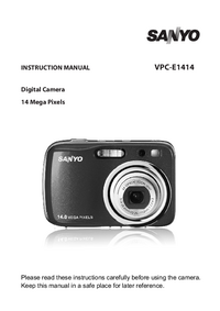 User Manual Sanyo VPC-E1414