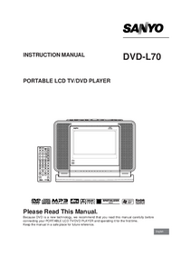 User Manual Sanyo DVD-L70