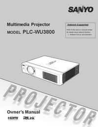 Manuel de l'utilisateur Sanyo PLC-WU3800