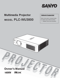 Bedienungsanleitung Sanyo PLC-WU3800