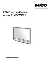 User Manual Sanyo PLV-55WM1