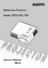 Manual do Usuário Sanyo PDG-DXL100