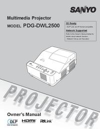 Gebruikershandleiding Sanyo PDG-DWL2500