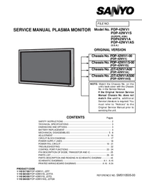 Service Manual Sanyo Chassis PDP-42WV1S-00