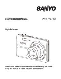 Manual do Usuário Sanyo VPC-t1496