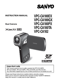 User Manual Sanyo VPC-CA102