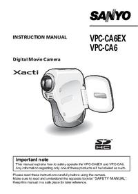 Manual del usuario Sanyo VPC-CA6EX