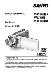 Manual del usuario Sanyo VPC-WH1EX