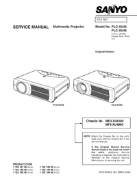 Service Manual Sanyo PLC-XU46