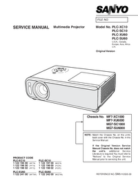 Руководство по техническому обслуживанию Sanyo PLC-XU60