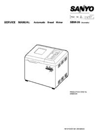 Manuale di servizio Sanyo SBM-20