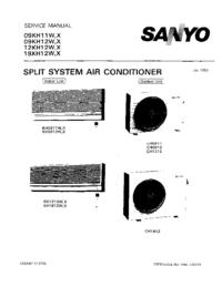 manuel de réparation Sanyo 12KH12W
