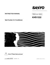 Bedienungsanleitung Sanyo KHS