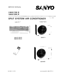 Service Manual Sanyo 18KS12W