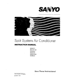 User Manual Sanyo KS3012W
