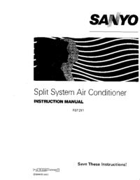 User Manual Sanyo RS1211