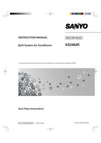 Руководство пользователя Sanyo KS2462R