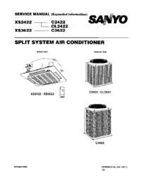 Руководство по техническому обслуживанию Sanyo C2422
